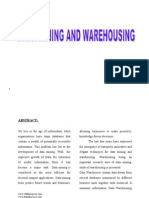 Data Warehousing and Data Mining Final Year Seminar Topic