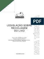 Legislacao Reciclagem de Lixo