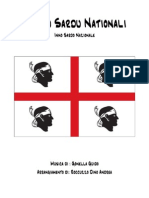 Hymnu Sardu Nationali - Inno sardo nazionale  (Canto patriottico - Parti - Arrangiamento Roccuzzo Dino Andrea)