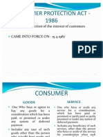 Consumer Protection Act - 1986