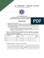 PNB Oriental Royal Mediclaim Proposal