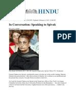 Spivak Interview TheHindu