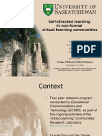 Self-directed learning in non-formal learning communities