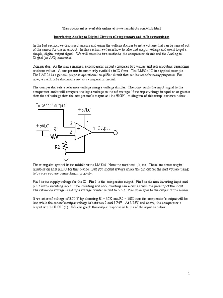Ad Or Analog To Digital Converter Electronic Circuits And
