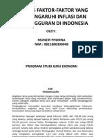 Analisis Faktor-faktor Yang Mempengaruhi Inflasi Dan Pengangguran Di