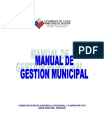 Gobierno de Chile (2005) Manual de Gestión Municipal