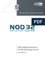 ESET NOD32 for MS EXchange Server - Installation