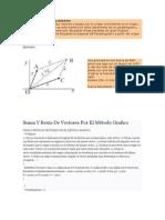 Suma y Resta de Vectores Metodo Grafico (Paralelogramo y Triangulo
