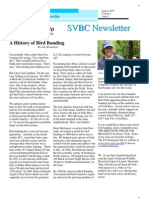 A History of Bird Banding, from SVBC Newsletter, Vol 1-No 2 (Jan 2007)