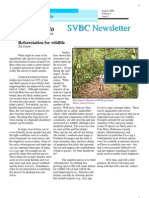 Restoration for Wildlife, from SVBC Newsletter, Vol 3-No 1 (Aug 2008)