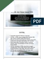 3-XHTML Dan Dasar-Dasar CSS