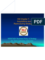 MGNT428 Ch07 Acquisitions & Restructuring Strategies - Lachowicz