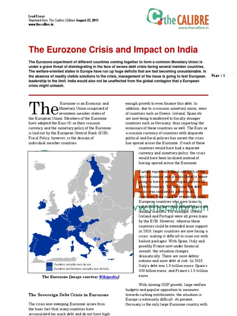 eurozone crisis essay