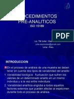 Pocedimientos Pre Analiticos