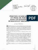 Position Syndicale Pecheux