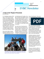A Trip to the Magical Mountain, from SVBC Newsletter, Vol 2-No 1 (Aug 2007)