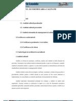 Auditul Si Certificarea Calitatii