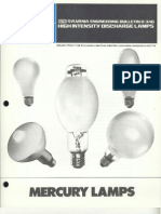 Sylvania Engineering Bulletin - Mercury Lamps 1973