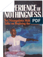 Sri Nisargadatta Maharaj ~ The Experience of Nothingness