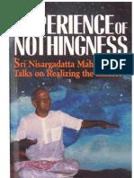 Sri Nisargadatta Maharaj ~ The Experience of Nothingness