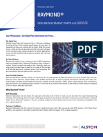 Raymond OEM Replacement Parts Technical Datasheet