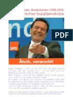 Gerhard Schroeder - CSU-Aufkleber 2003