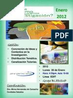Jornada Investigación en Postgrado Enero 2012