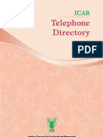 ICAR Telephone Directory