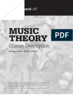 AP Music Theory Course Description