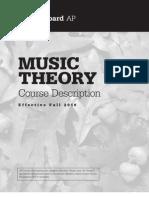 AP Music Theory Course Description