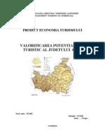 PROIECT ECONOMIA TURISMULUIValorificarea Potentialului Turistic Al Judetului Cluj