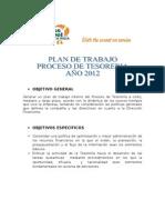 Plan de Trabajo 2012 Tesorería