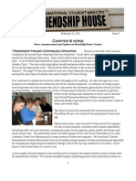 """Friendship House MSU """"Chapter and Verse Newsletter"""" #2"""