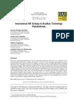 International HR Strategy in Brazilian Technology