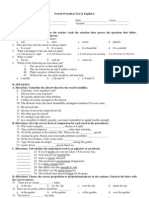 Fourth Periodical English 6