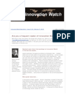 Innovation Watch Newsletter 11.03 - February 11, 2012