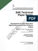 Designing the NisSAN VH45 Engine-Information