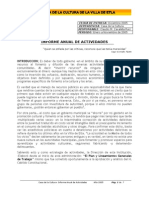 Informe Anual de Activdades Casa de La Cultura