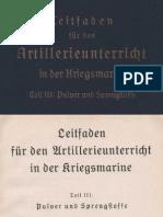 Leitfaden für den Artillerieunterricht in der Kriegsmarine Teil III