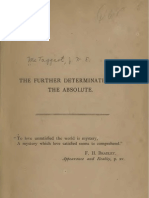 McTaggart John Ellis THE FURTHER DETERMINATION of THE ABSOLUTE 1890