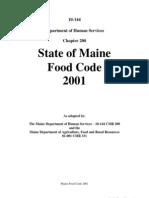 Maine Food Code
