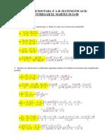 Ejercicios de fracciones algebraicas (con solución):