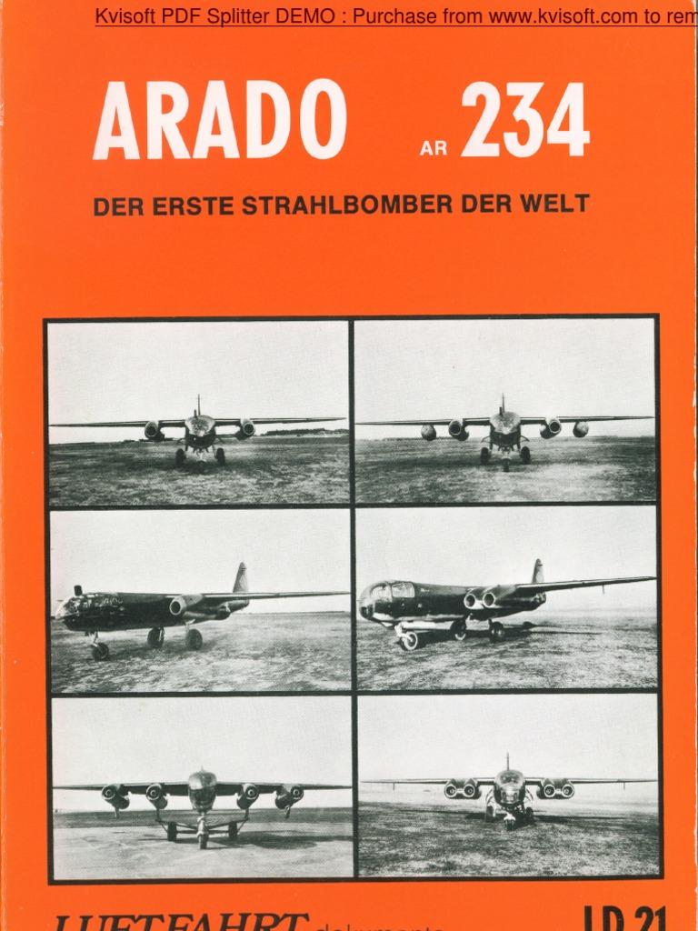 Arado Ar 234 Der Erste Strahlbomber Der Welt Luftfahrt Dokumente ...