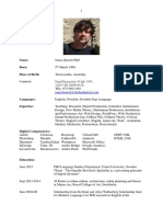 James G Barrett CV