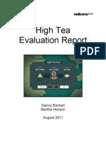 High Tea Evaluation Report