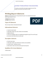 """Preview of """"Print - Purdue OWL- Report Abstracts"""""""