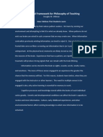 Doug Uhlman Theoretical Framework for Philosophy of Teaching 2