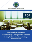 2009 - Partnerships Between Community Colleges and Prisons USDE