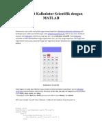 Scrib Membuat Kalkulator Scientifik Dengan MATLAB