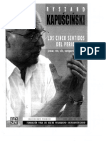 Cinco Sentidos Del Periodista Kapuscinski